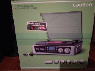 Tocadiscos radio FM/AM con USB y SD