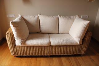 Sofá de mimbre
