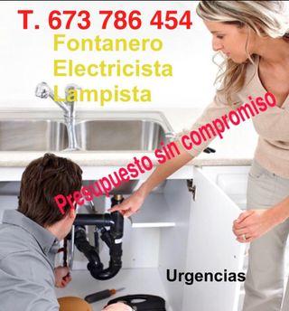Fontanero, lampista economico tel. 673786454