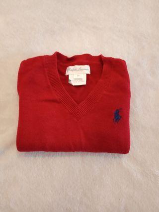 Jersey color burdeos Ralph Lauren