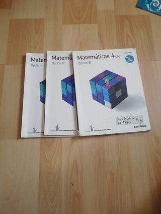 LIBROS DE MATEMÁTICAS 4° DE LA ESO SANTILLANA