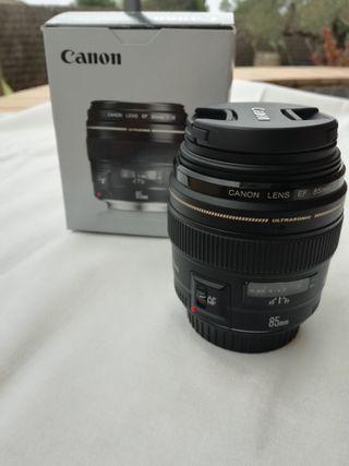 Objectiu CANON EF 85mm/ f/1.8 USM