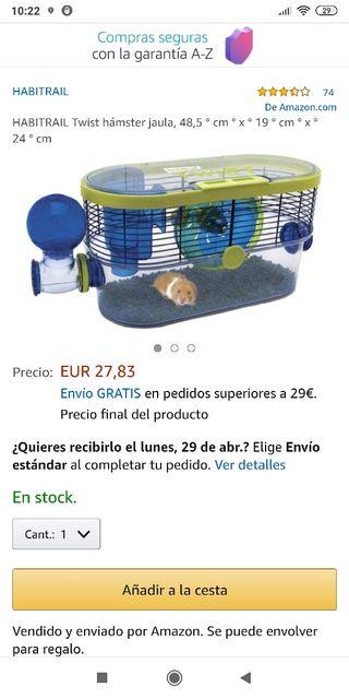 Jaula para hamsters.