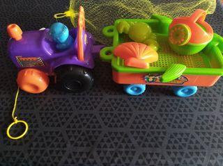 Tractor niño o niña para playa parque nuevo