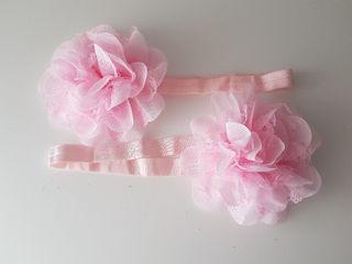 Cinta pelo niña rosa claro...NUEVA!!