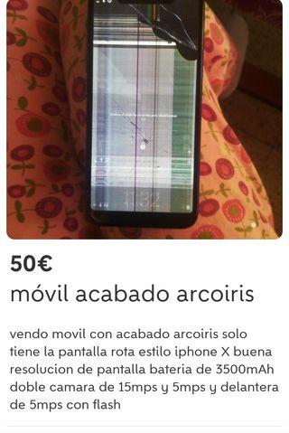 Móvil se vende roto pantalla