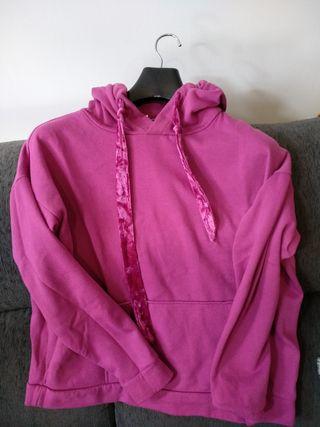 Sudadera capucha rosa