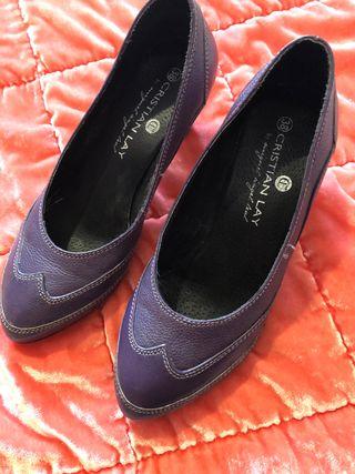 Zapatos de piel n-38