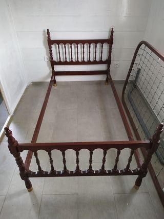cama de 90cm x 180cm retro en perfecto estado