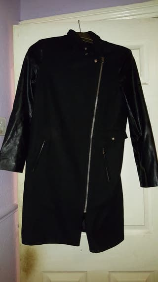 forever 21 coat with leather sleeves
