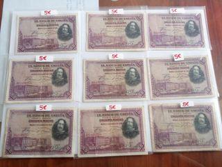 Billetes 50 pesetas velazquez 1928