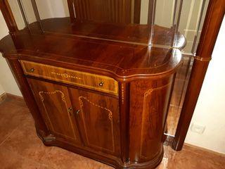 mueble de entrada de caoba