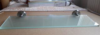 Balda de cristal templado para baño