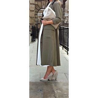 Asos khaki duster coat