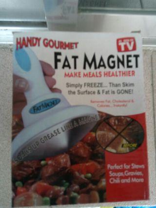 eliminador de grasas en la comida Fat magnet de TV