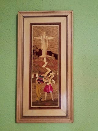 Cuadro de madera. Cristo de la Concordia