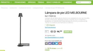 LAMPARA PIE LED MELBOURNE