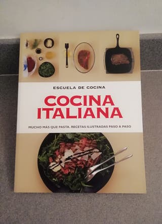 """LIBRO """"COCINA ITALIANA"""" ESCUELA DE COCINA."""