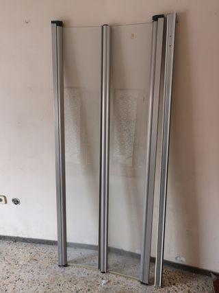 mampara 2 puertas 70cm en total