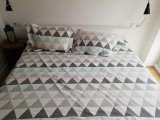 Estructura cama con almacenaje y colchón