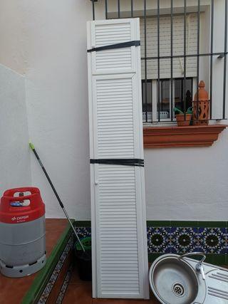 puerta mueble aluminio con altillo