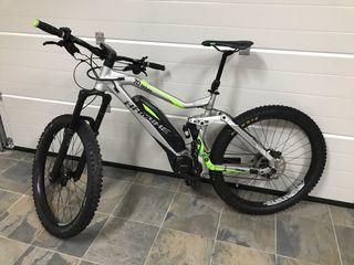 Bicicleta haibike electrica 180mm suspensión