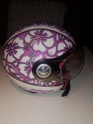 casco rosa chica talla S