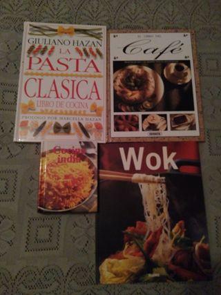 4 libros de cocina x 3€