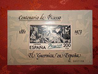 """Sello centenario Picasso 1981 El """"Guernica en ..."""