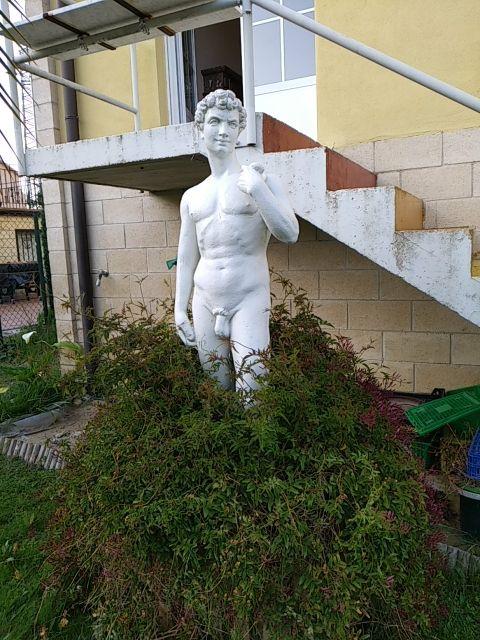 Figura de jardín. David de Miguel Ángel
