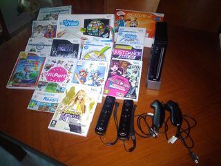 Wii con juegos y complementos