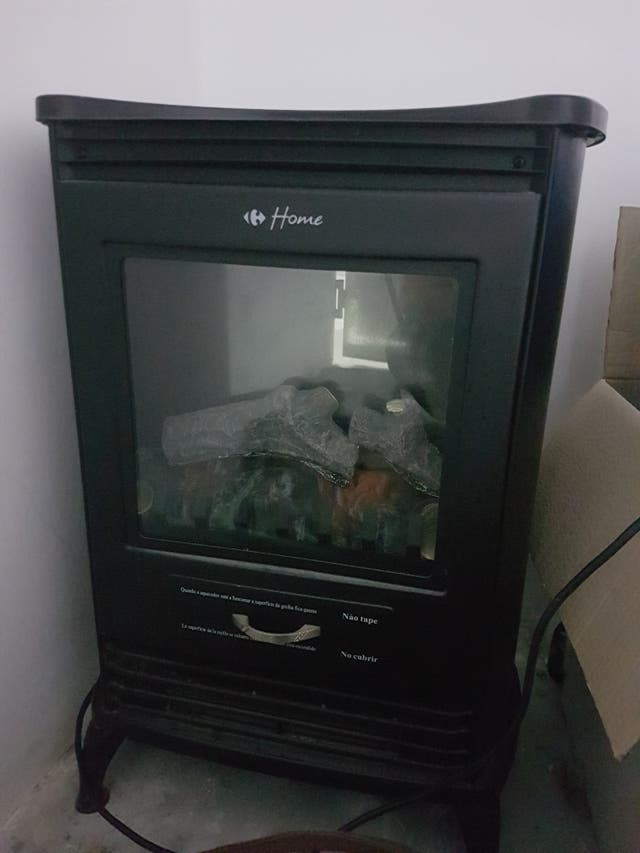 Estufa electrica efecto chimenea