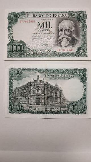billete mil pesetas José Echegaray