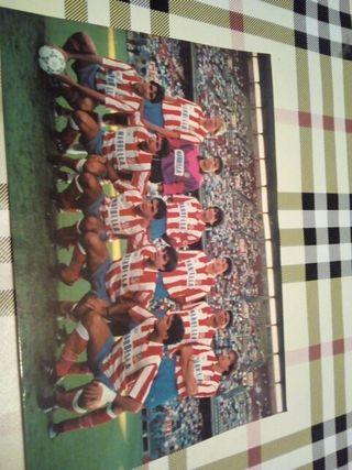 tarjeta foto antigua Atlético de Madrid