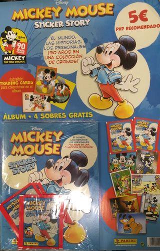MICKEY MOUSE(90 AÑOS)ÁLBUM DE PEGATINAS Y CARTAS