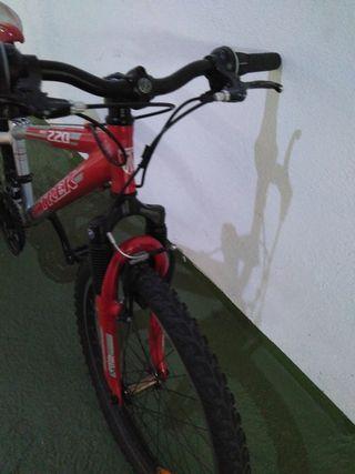 bicicleta Trek de 22 pulgadas
