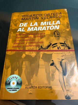 """Libro """" De la milla al maratón """". Entrenamientos"""