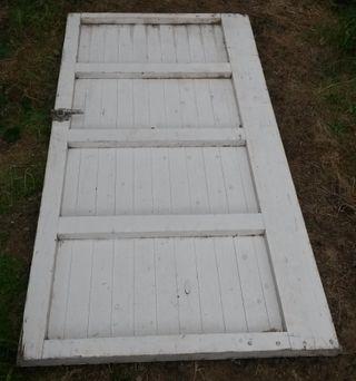 porton de madera de exterior, casa, almacen
