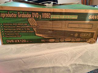 Reproductor, grabador dvd y video