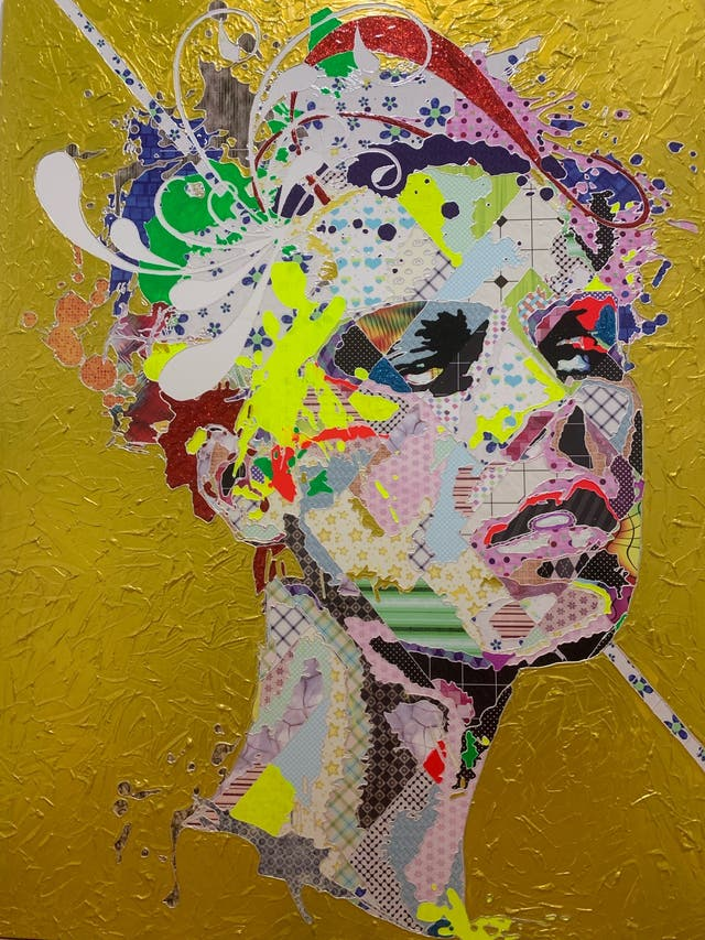 """Julia in Gold"" by Alea Pinar Du Pre."