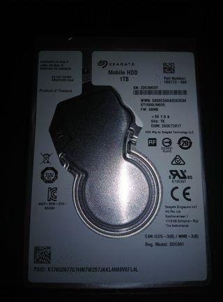 Disco duro de 2.5 de 1 Tr(1000gigas)
