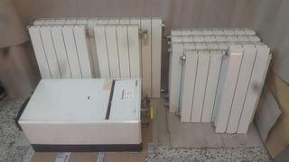 Radiadores de calefacción y se regala caldera gas.