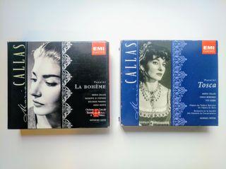 CDs Maria Callas / La Boheme y Tosca