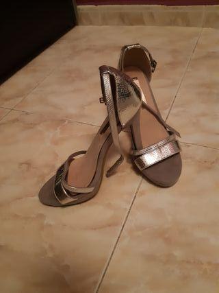 zapatos xti plateados talla 39