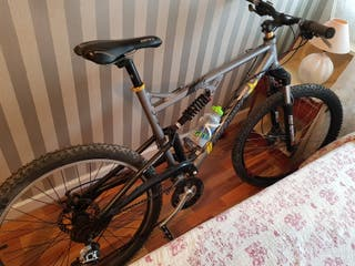 bicicleta de doble suspensión de aluminio