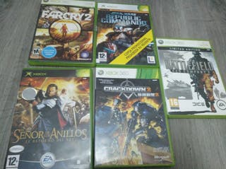 Lote 5 juegos Xbox/360