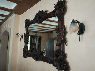 Espejo decorativo de madera