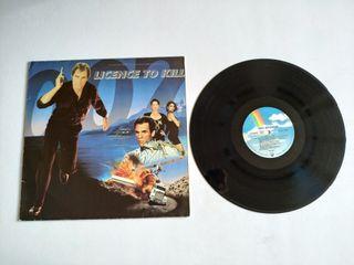 Lp soundtrack Licence to kill 007 James Bond