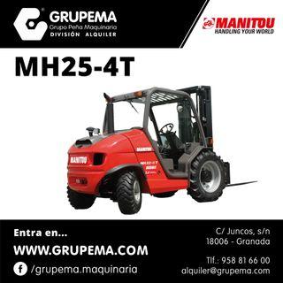 Alquiler de Carretilla Elevadora Manitou MH25-4T