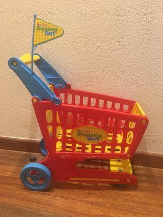 Carrito compra juguetes